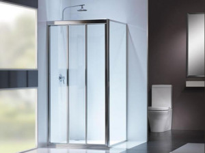 Fully Frame Showerscreen by Aspired Aluminium & Glass