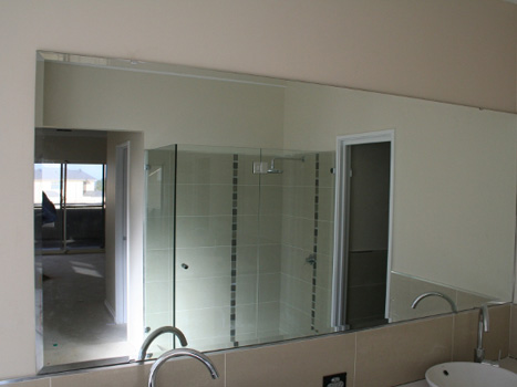 Modern Glass Mirror available at Aspired Aluminium & Glass