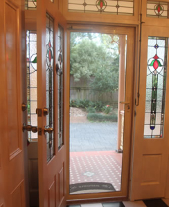 Barrier screen door - flyscreen with protection