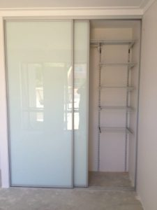 white kote sliding door